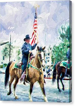 Canvas Print featuring the painting America On Parade by Ike Krieger