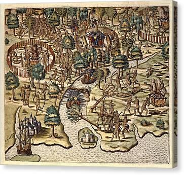 America Tertia Pars, 1562. Methods Canvas Print by Everett