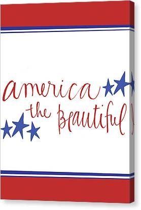 America The Beautiful Canvas Print by Katie Doucette