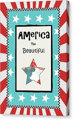 America The Beautiful Canvas Print by Sarah Ogren