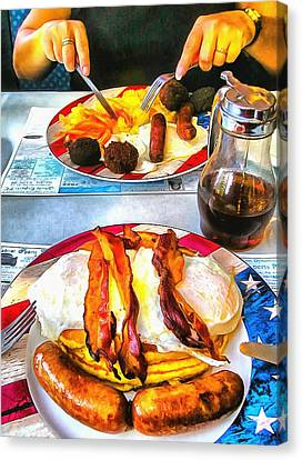 American Breakfast In New York City Canvas Print