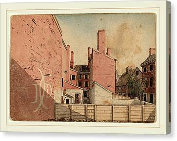 American 19th Century, A View From An East Window Canvas Print by Litz Collection