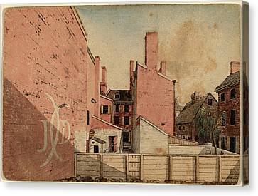 American 19th Century, A View From An East Window Canvas Print by Quint Lox