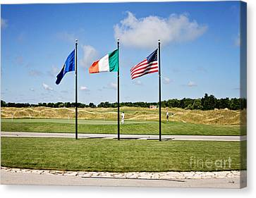 American And Irish Flag Canvas Print