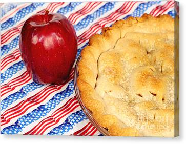 American As Apple Pie Canvas Print by Pattie Calfy