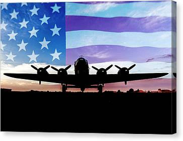 American B-17 Flying Fortress Canvas Print by Terry DeLuco