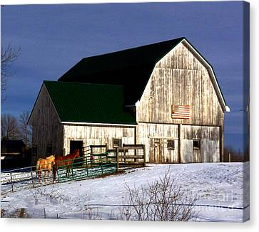 American Barn Canvas Print by Desiree Paquette