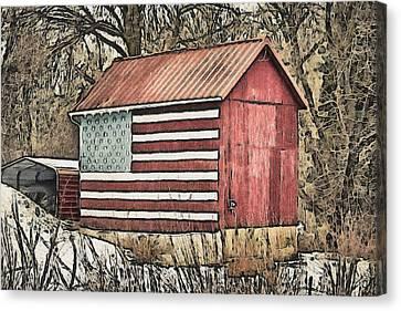 American Barn Canvas Print by Trish Tritz