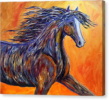 Canvas Print featuring the painting American Beauty Abstract Horse Painting by Jennifer Godshalk