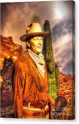 American Cinema Icons - The Duke Canvas Print