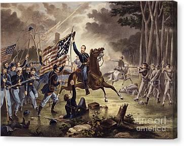 American Civil War General   Philip Kearny Canvas Print by American School