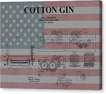 American Cotton Gin Patent Canvas Print