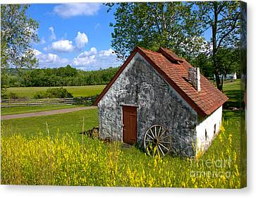 American Country Farmhouse Canvas Print by Olivier Le Queinec