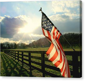 American Country Canvas Print by Mary Lawson