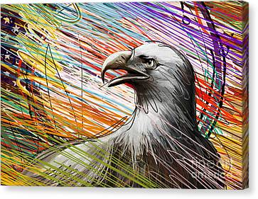 American Eagle Canvas Print by Peter Awax