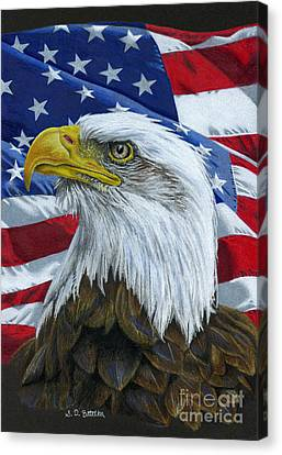 North American Wildlife Canvas Print - American Eagle by Sarah Batalka