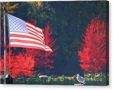 American Fall Day Canvas Print