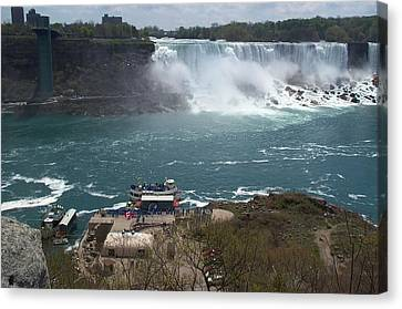 Canvas Print featuring the photograph American Falls From Above The Maid by Barbara McDevitt