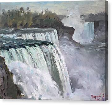 American Falls Niagara Canvas Print by Ylli Haruni