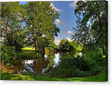 American Farm Pond Canvas Print