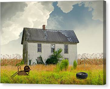 American Farmhouse Canvas Print by IM Spadecaller