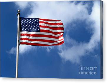 American Flag Canvas Print by Amy Cicconi