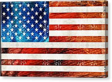 American Flag Art - Old Glory - By Sharon Cummings Canvas Print by Sharon Cummings