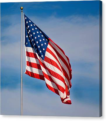 American Flag Canvas Print by Benjamin Reed