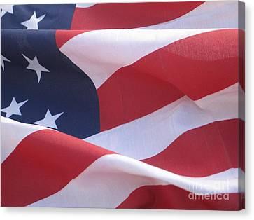 Canvas Print featuring the photograph American Flag   by Chrisann Ellis