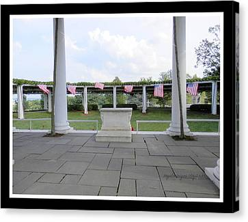 American Flag In Breeze Canvas Print