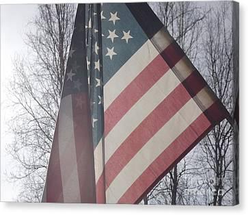 American Flag Canvas Print by Jennifer Kimberly