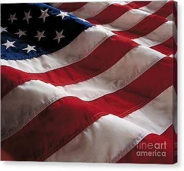 American Flag Canvas Print by Jon Neidert