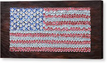 American Flag Canvas Print by Kay Galloway