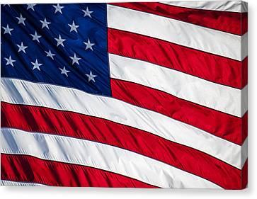 American Flag Canvas Print by Leslie Banks