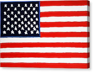 American Flag Canvas Print by Matthew Brzostoski