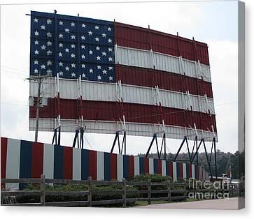 American Flag Canvas Print by Michael Krek