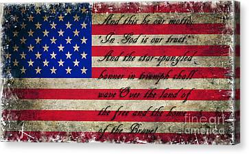 American Flag Tribute Canvas Print by Miryam  UrZa