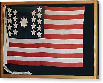 American Flag Of 1811 Canvas Print by Linda Phelps