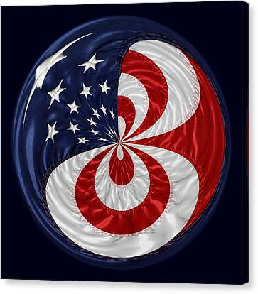 American Flag Orb Canvas Print by Paulette Thomas