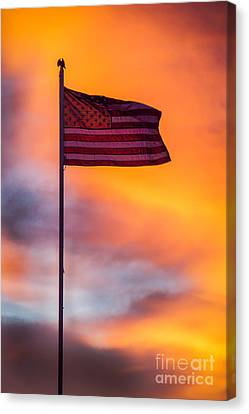 American Flag Canvas Print by Robert Bales