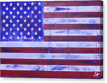 American Flag Canvas Print by Sean Keil