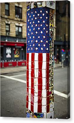American Flag Tiles Canvas Print