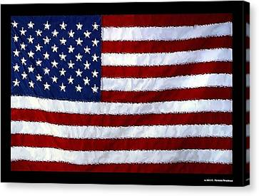 American Flag Canvas Print by Tommi Trudeau