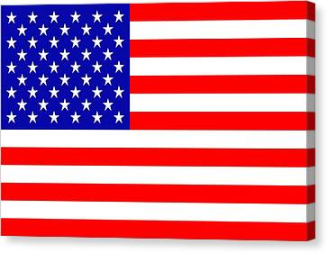 American Flag Canvas Print by Tommytechno Sweden