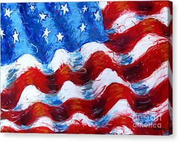 American Flag Canvas Print by Venus