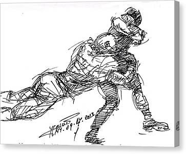 American Football 2 Canvas Print by Ylli Haruni