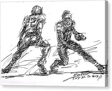 American Canvas Print - American Football 3 by Ylli Haruni