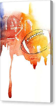 American Football Canvas Print by Mahsa Watercolor Artist