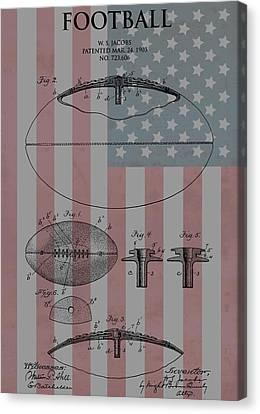 American Football Patent Canvas Print