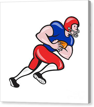 American Football Running Back Rushing Canvas Print by Aloysius Patrimonio